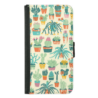 Cactus Pattern Samsung Galaxy S5 Wallet Case