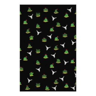 Cactus pattern stationery