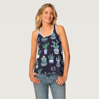 Cactus pattern tank top