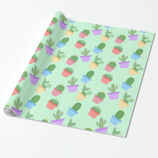 Cactus Pattern Wrapping Paper