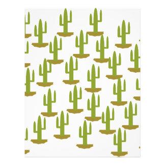 Cactus Personalized Letterhead