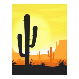 Cactus plants in desert personalized letterhead