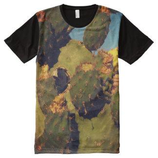 Cactus Plants Photo Panel T-Shirt