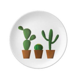 Cactus Porcelain Plate