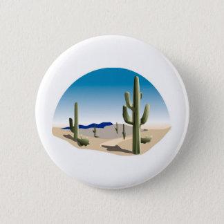 Cactus Prairie Scene 2 Inch Round Button