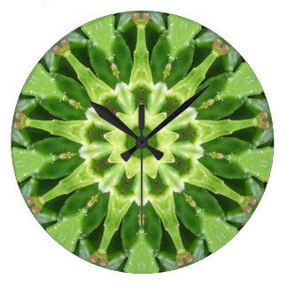 Cactus Prickle Frenzy Fractal Large Clock