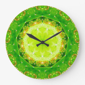 Cactus Prickle Trap Fractal Large Clock