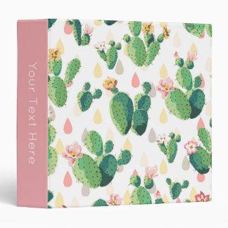 Cactus Print 3-Ring Binder