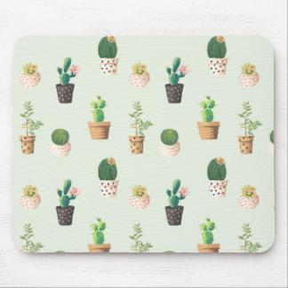 Cactus Print Mousepad