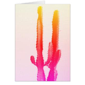 Cactus Rainbow Greeting Card, Blank Card