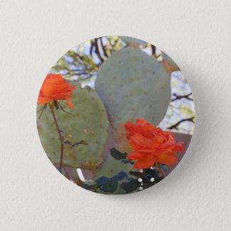 Cactus Rose 2 Inch Round Button