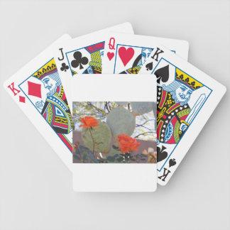 Cactus Rose Bicycle Playing Cards