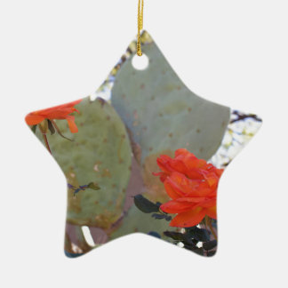 Cactus Rose Ceramic Ornament
