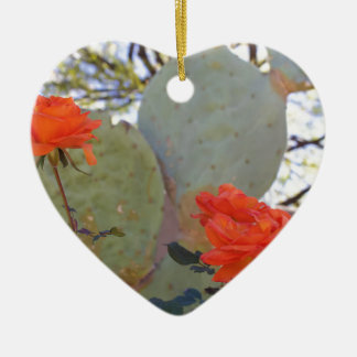 Cactus Rose Ceramic Ornament