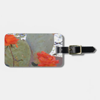 Cactus Rose Luggage Tag