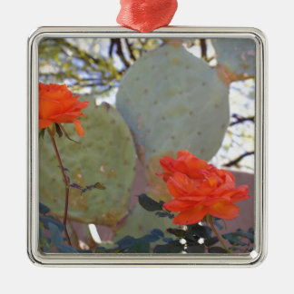 Cactus Rose Metal Ornament