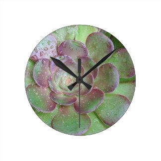 Cactus Round Clock