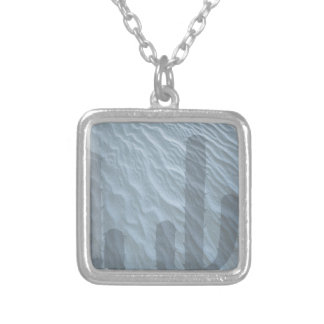 Cactus Shadow Design Silver Plated Necklace