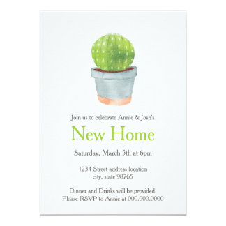 Cactus Simple New Home Housewarming Party Invite