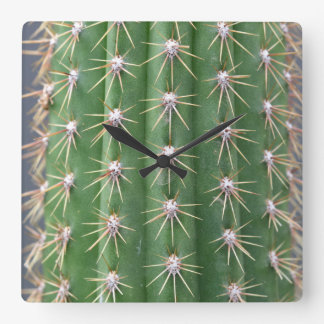 Cactus Square Wall Clock