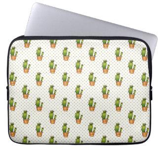 Cactus & Succulent Polk Dot Pattern Laptop Sleeve