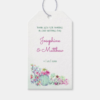 Cactus & Succulents Wedding Favor Tags