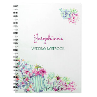 Cactus & Succulents Wedding Planning Notebook