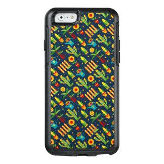 Cactus sunflower on blue Festa Junina pattern OtterBox iPhone 6/6s Case
