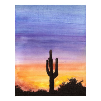 Cactus Sunset Customized Letterhead
