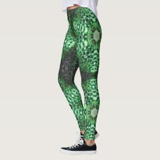 Cactus Texture Geometric Leggings