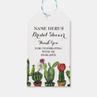 Cactus Thank you Tag Fiesta Mexico Bridal Shower Pack Of Gift Tags