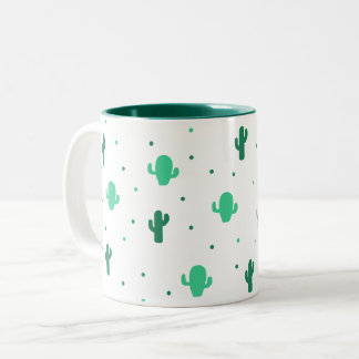 Cactus to fever Two-Tone coffee mug