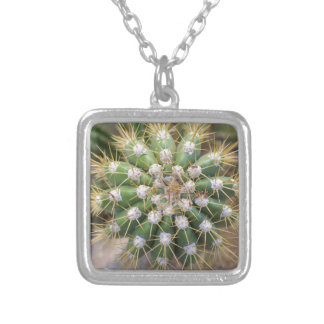 Cactus Top Silver Plated Necklace