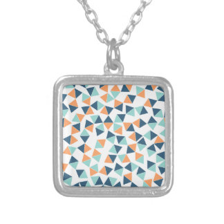 Cactus Triangles Silver Plated Necklace