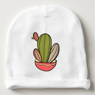 Cactus vector illustration. Hand drawn. Cactus pla Baby Beanie
