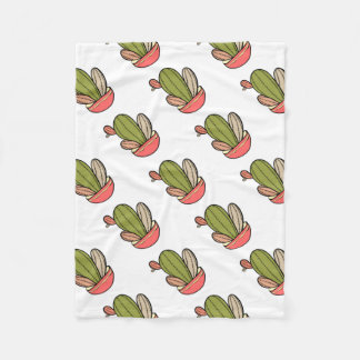 Cactus vector illustration. Hand drawn. Cactus pla Fleece Blanket