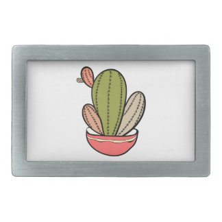 Cactus vector illustration. Hand drawn. Cactus pla Rectangular Belt Buckle