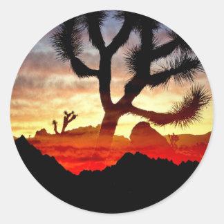 cactus vision classic round sticker