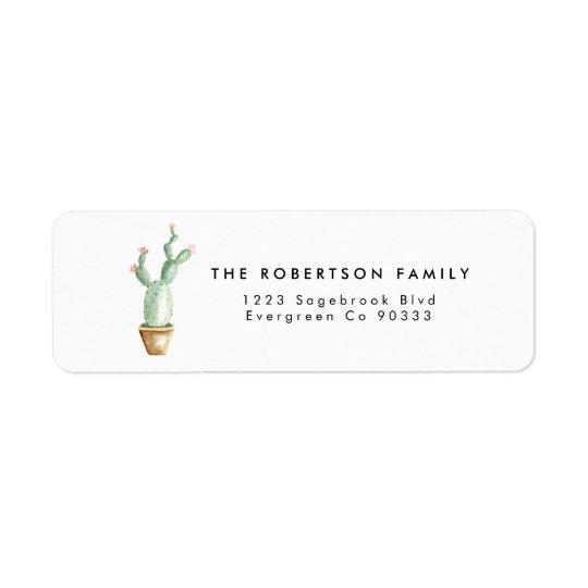 Cactus Watercolor Address Label