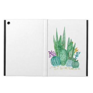 Cactus, watercolor cover for iPad air
