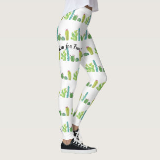 Cactus Watercolor Picture Leggings