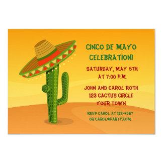 Cactus with Sombrero, Cinco de Mayo Card