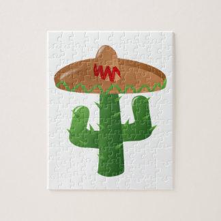 Cactus With Sombrero Jigsaw Puzzle