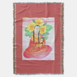 Cactus Woman Throw Blanket
