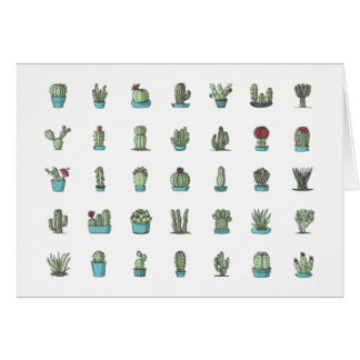 Cactuses and Succulents Note Card