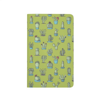 Cactuses and Succulents Pattern Pocket Journal