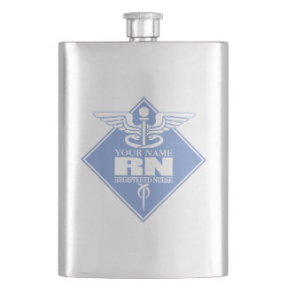 Cad RN (diamond) personalized Hip Flask