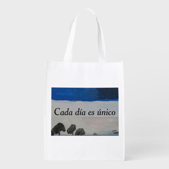 Cada día es único grocery bag