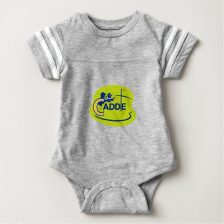 Caddie and Golfer Golf Course Icon Baby Bodysuit
