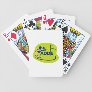 Caddie and Golfer Golf Course Icon Bicycle Playing Cards